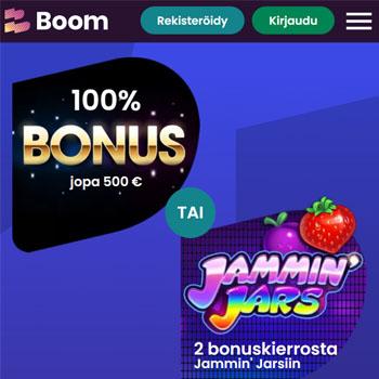 Aloitamme ohjeen suuntaamalla Boom Casinolle