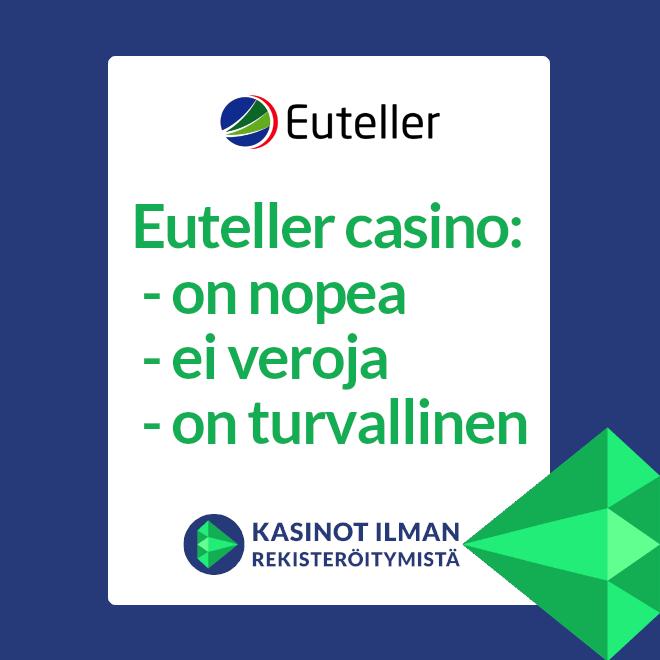Euteller casino on luotettava, nopea ja erittäin turvallinen valinta pelipaikaksi