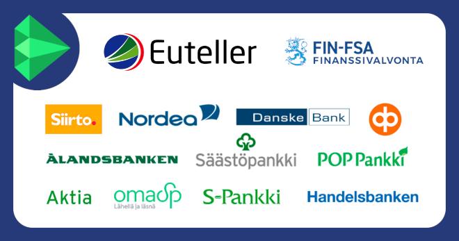 Euteller tukee kaikkia suomalaisia verkkopankkeja ja on Finanssivalvonnan alainen